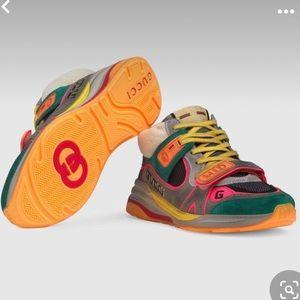 Gucci Ultrapace Suede-Trim Sneaker
